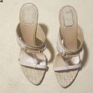 Christian Dior Gold slide sandals size 38/ US 8